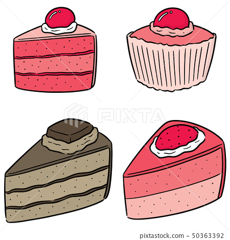 vector set of cake 50363392
