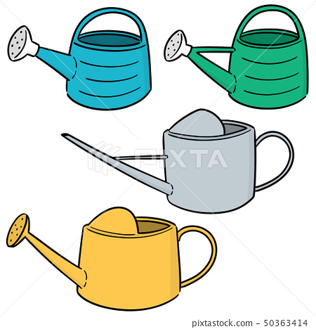 vector set of watering can 50363414