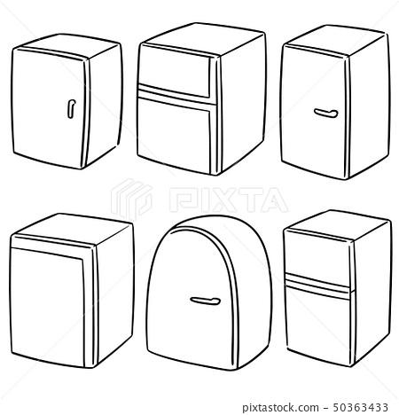 vector set of refrigerator 50363433