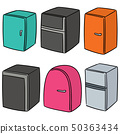 vector set of refrigerator 50363434