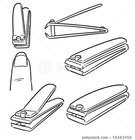 vector set of nail clipper 50363450