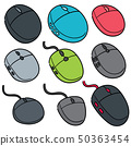 vector set of computer mouses 50363454