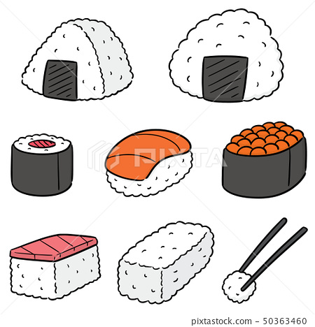 vector set of japanese food 50363460