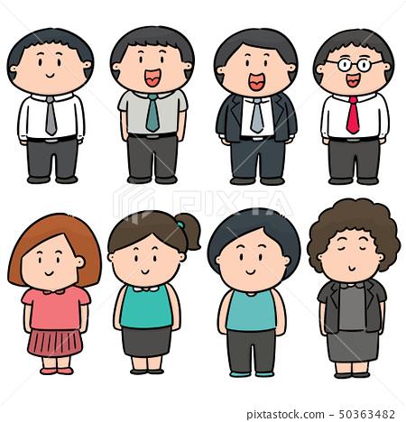 vector set of people 50363482