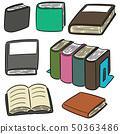vector set of book 50363486
