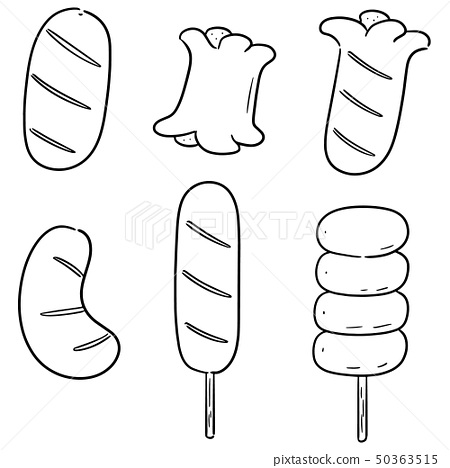 vector set of sausages 50363515