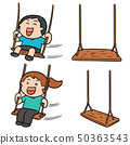 vector set of kid swing 50363543