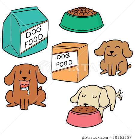 vector set of dog food 50363557
