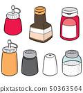 vector set of condiment bottles 50363564