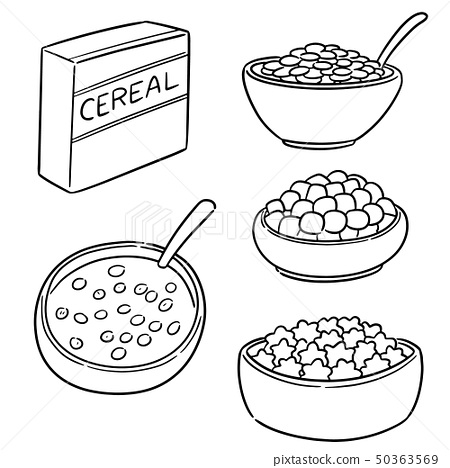 vector set of cereal 50363569