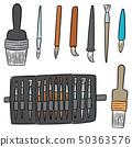 vector set of brush 50363576