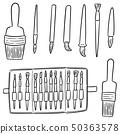 vector set of brush 50363578