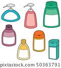 vector set of shampoo and liquid soap bottle 50363791
