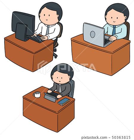 vector set of office worker 50363815