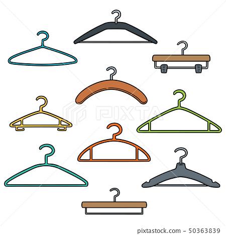 vector set of hangers 50363839