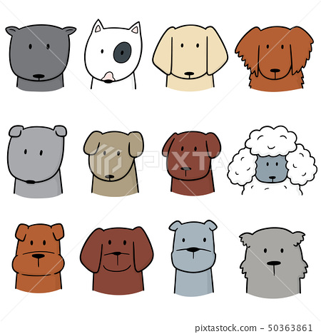 vector set of dog 50363861