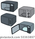 vector set of microwave oven 50363897
