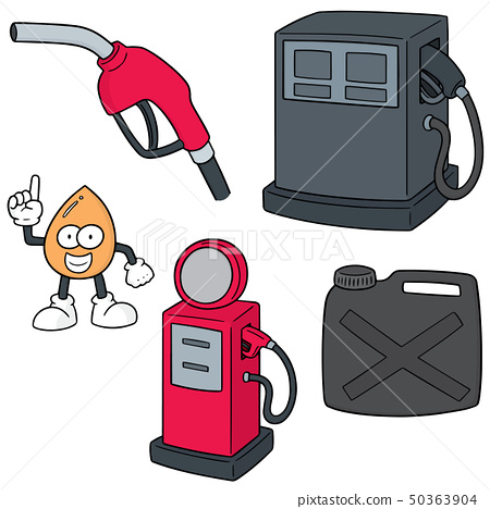 vector set of gas station 50363904