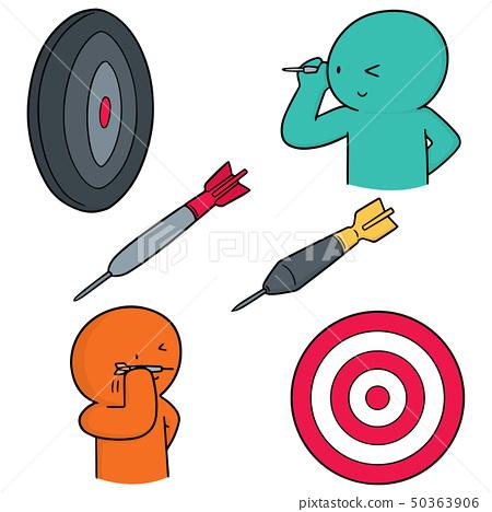 vector set of dart 50363906