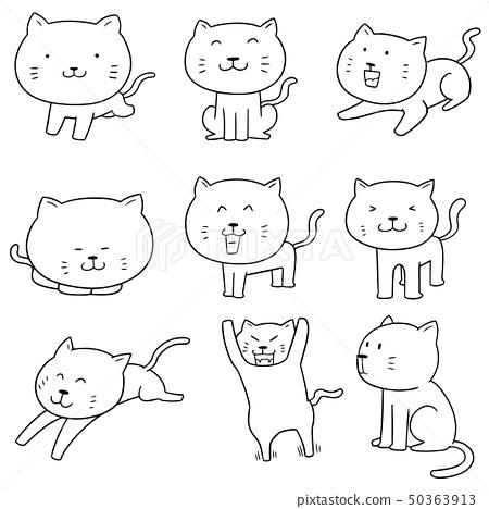 vector set of cats 50363913