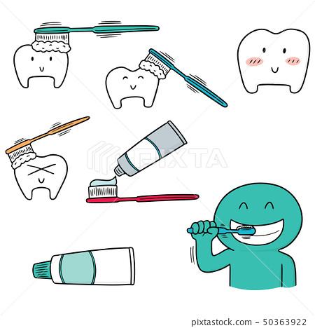 vector set of teeth 50363922