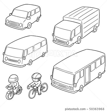 vector set of transportation 50363968