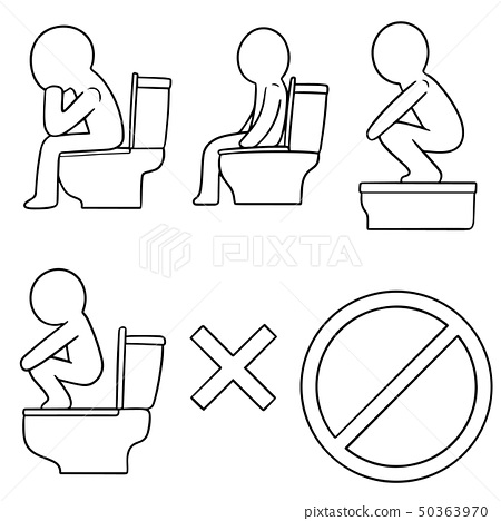 vector set of toilet icon 50363970