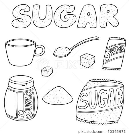 vector set of sugar 50363971