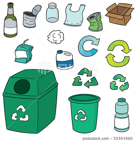 vector set of recycle garbage 50363980