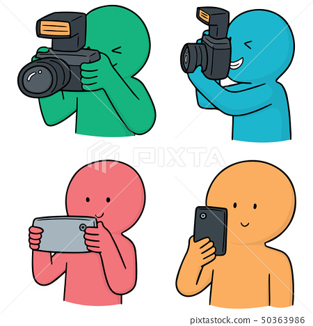vector set of photographers 50363986