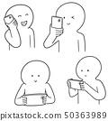 vector set of people using smartphone 50363989