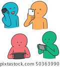 vector set of people using smartphone 50363990