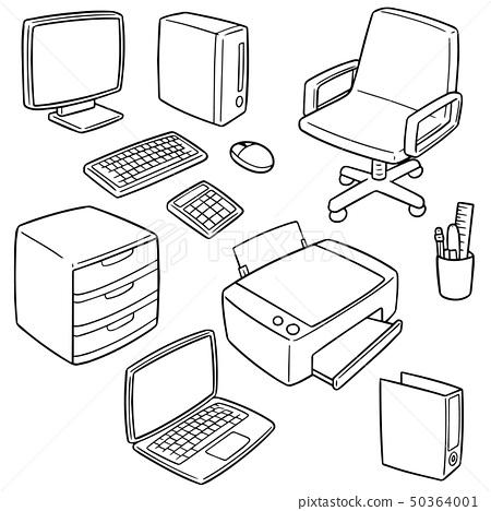 vector set of office accessories 50364001