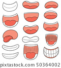 vector set of mouth 50364002