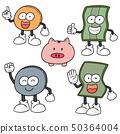 vector set of money cartoon 50364004