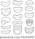 vector set of mouth 50364005