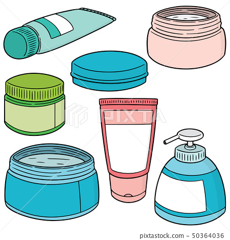 vector set of topical cosmetic and topical 50364036