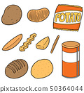 vector set of potato products 50364044