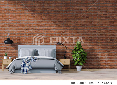 3D rendering of interior bedroom with decorations. 50368391