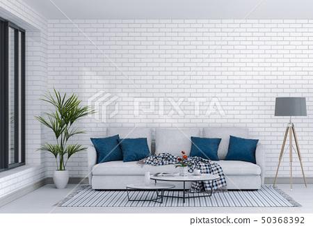 interior modern living room with sofa 50368392