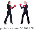 Pair in funny boxing concept 50368570