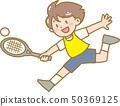 孩子們打網球 50369125