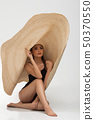 Woman Swim wear big hat fashion 50370550
