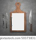 Menu on cutting board 50373831