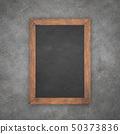 blackboard with wooden frame 50373836