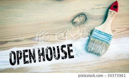 Open House. paintbrush with white color 50373961