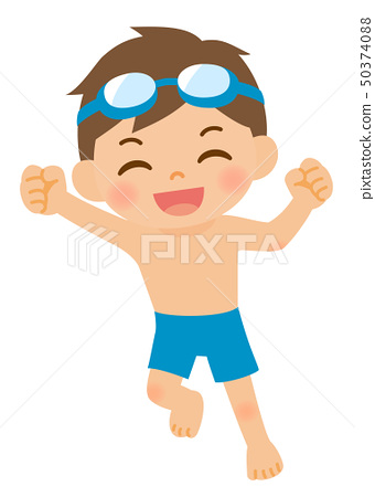 Hawaiian Boy And Girl Kids With Swimsuits And Other Beach Summer.. Royalty  Free Cliparts, Vectors, And Stock Illustration. Image 105511233.