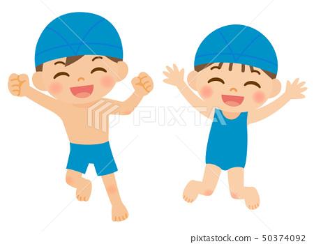 游泳兒童游泳帽 50374092