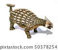 Ankylosaurus dinosaur isolated on white 50378254