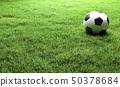 Football on the Green grass field 50378684